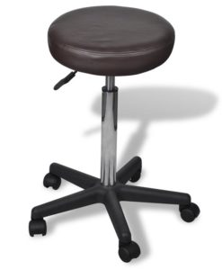 vidaXL Office Stool brown