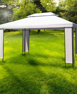 vidaXL Gazebo 3x4m double roof party tent