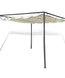 vidaXL Garden Gazebo with Retractable Roof Canopy