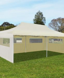 vidaXL Pop Up Gazebo Party Tent Foldable Cream