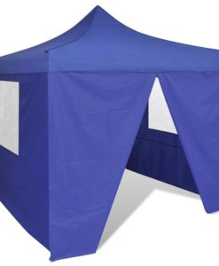 vidaXL Blue Foldable Tent 3 x m with 4 Walls