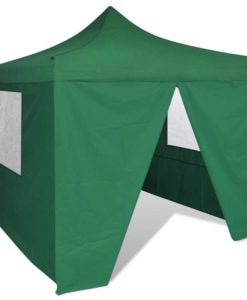 vidaXL Green Foldable Tent 3 x m with 4 Walls