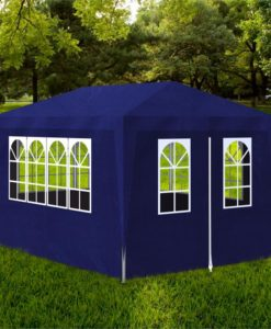 vidaXL Blue Party Tent with 4 Walls 3 x m