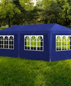 vidaXL Blue Party Tent with 6 Walls 3 x m