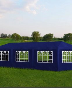 vidaXL Blue Party Tent with 8 Walls 3 x 9 m