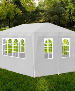 vidaXL White Party Tent with 4 Walls 3 x m