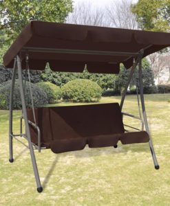 vidaXL Outdoor Swing Chair / Bed with Canopy Coffee