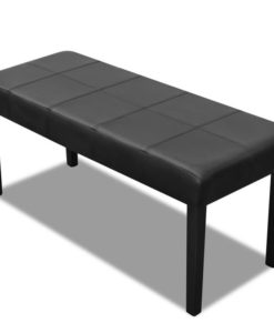 vidaXL Black High Quality Artificial Leather Bench