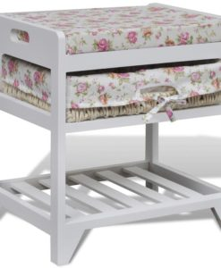 vidaXL Storage Bench with Shoe Rack and Basket Wood