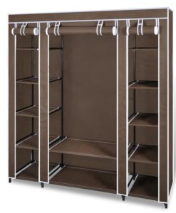 vidaXL Fabric Cabinet with Compartments 45 x 150 x176 cm Brown