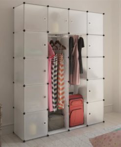 vidaXL Modular Cabinet with 14 Compartments White 37 x 150 190 cm