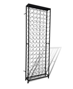vidaXL Free Standing Metal Wine Rack for 108 Bottles