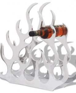 vidaXL Aluminium Tabletop Wine Rack Stand Holder for 11 Bottles Silver