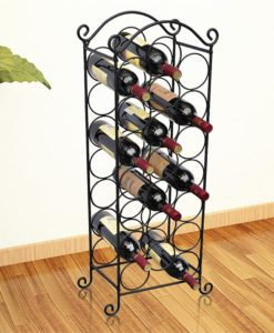 vidaXL Metal Wine Rack for 21 Bottles Replaces