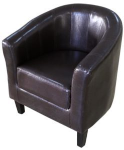 vidaXL Brown Artificial Leather Tub Chair