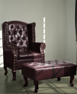 vidaXL 60784 Chesterfield chair brown
