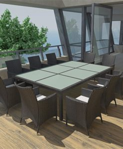 vidaXL Outdoor Dining Set Poly Rattan Black