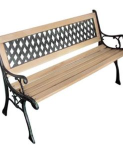 vidaXL Garden Bench with Diamond-Patterned Backrest Nostalgic