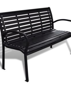 vidaXL Garden Bench with Steel Frame