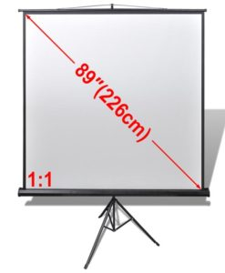 vidaXL Manual Projection Screen with Height Adjustable Stand 160 x cm 1:1