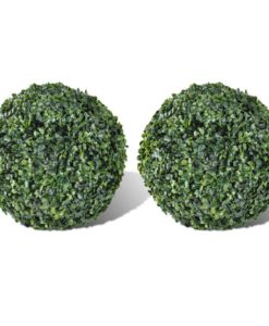 vidaXL Boxwood Ball Artificial Leaf Topiary 27 cm 2 pcs