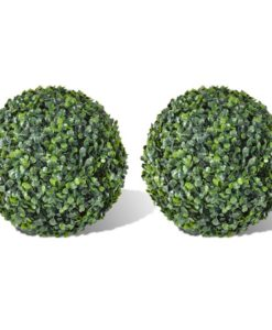 vidaXL Boxwood Ball Artificial Leaf Topiary 35 cm 2 pcs
