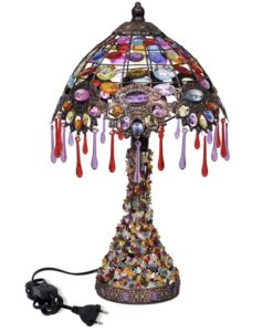 vidaXL Multicolour Desk Lamp with Crystal Beads