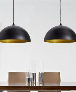 vidaXL Semi-spherical Black Ceiling Lamp 2 pcs
