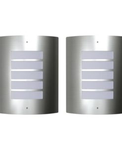vidaXL 2 Stainless Steel Waterproof Wall Lights 60W