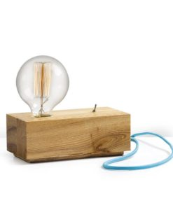 Wood Block Table Lamp |  Various Colours