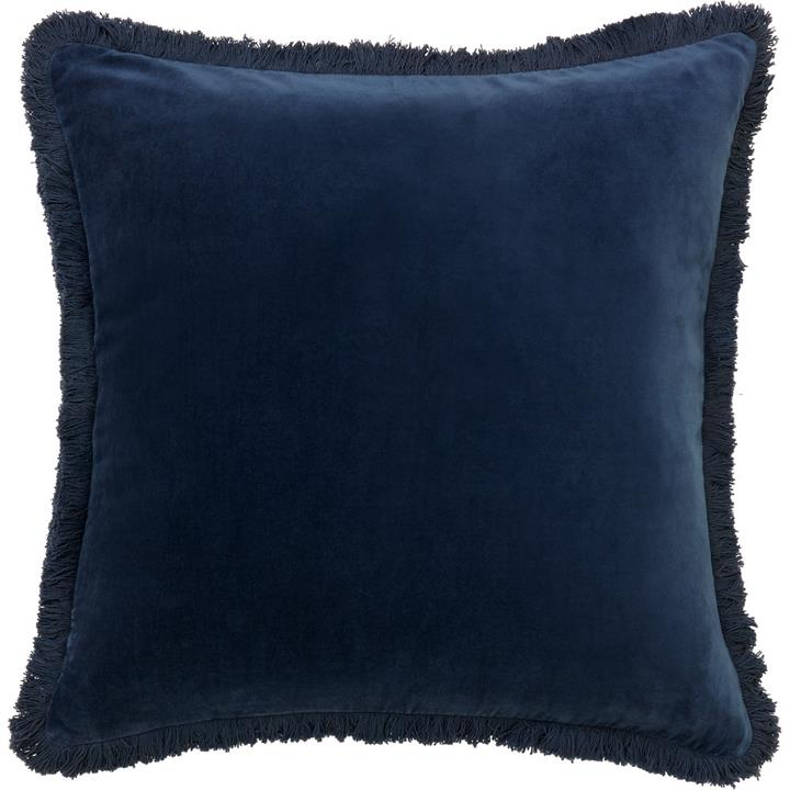 Velvet Fringe Cushion | Various Colours