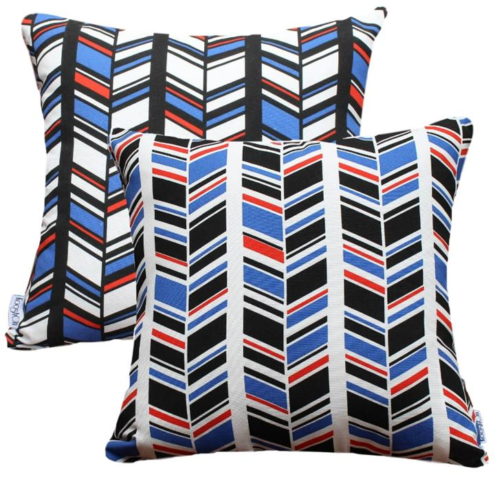 Century Quill | Reversible Indoor Outdoor Fade and Water Resistant Cushion | Includes Insert