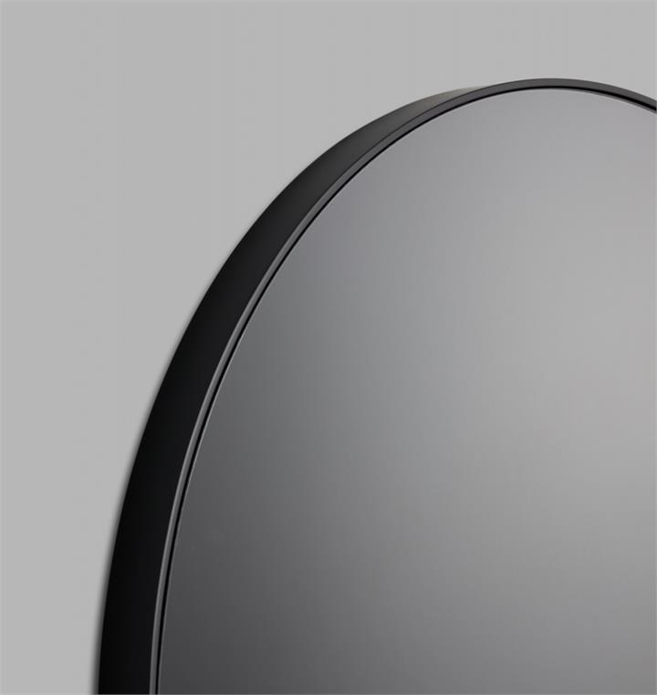 Modern Circular Round Mirror | Grey Tinted Mirror Glass