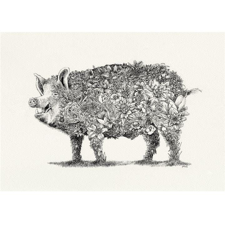 Edgar Alan Pig I Limited Edition Giclee Print