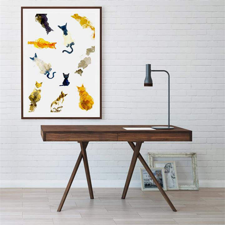 The Clowder Print | Canvas and Framed Print