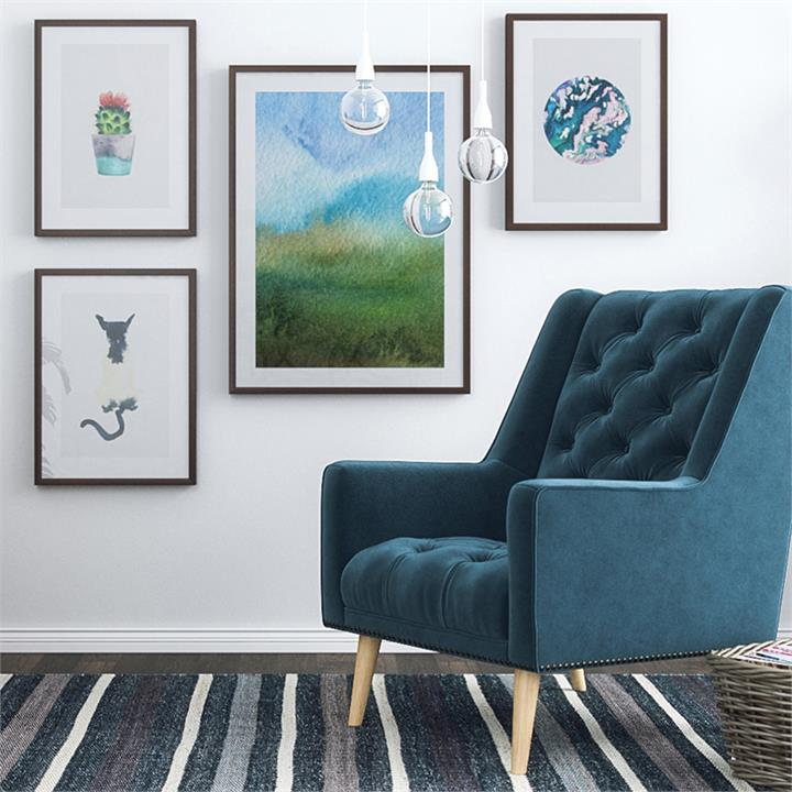 The Watercolour Print | Canvas and Framed Print