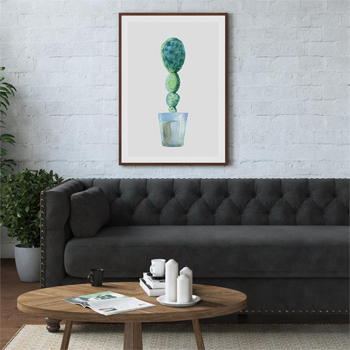 The Succulent Cactus Print | Canvas and Framed Print