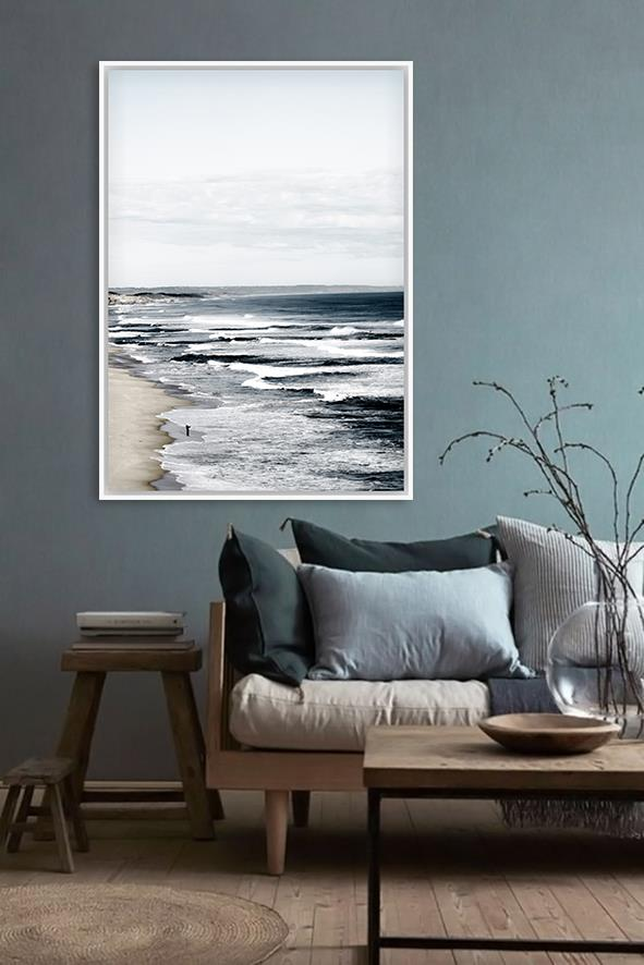 The Back Beach Canvas Print | Framed