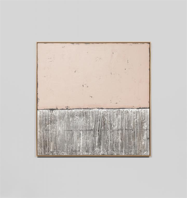 Silver Coast Blush | Small | Framed Canvas