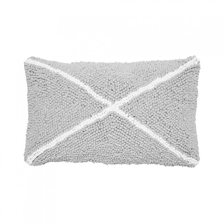 Grey X Cushion