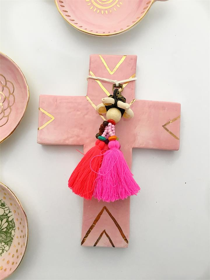 Pink Love | Ceramic Cross