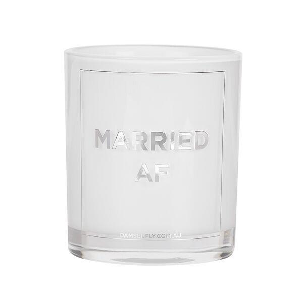Married AF | LRG Candle | Silver