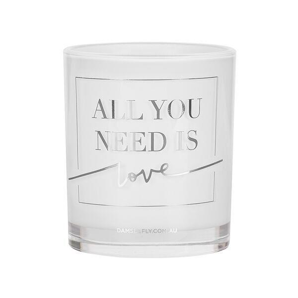 All You Need Is Love | LRG Candle | Silver