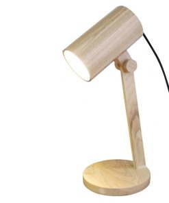 Wood Cylindrical Desk Lamp