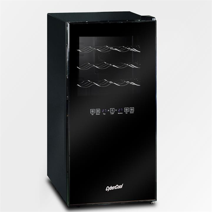 CyberCool DP32C Dual Zone Thermoelectric Wine Cooler - 32 Bottle
