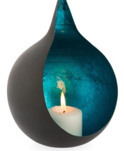Onion Shaped Point Iron Votive with Azure Interior- Large