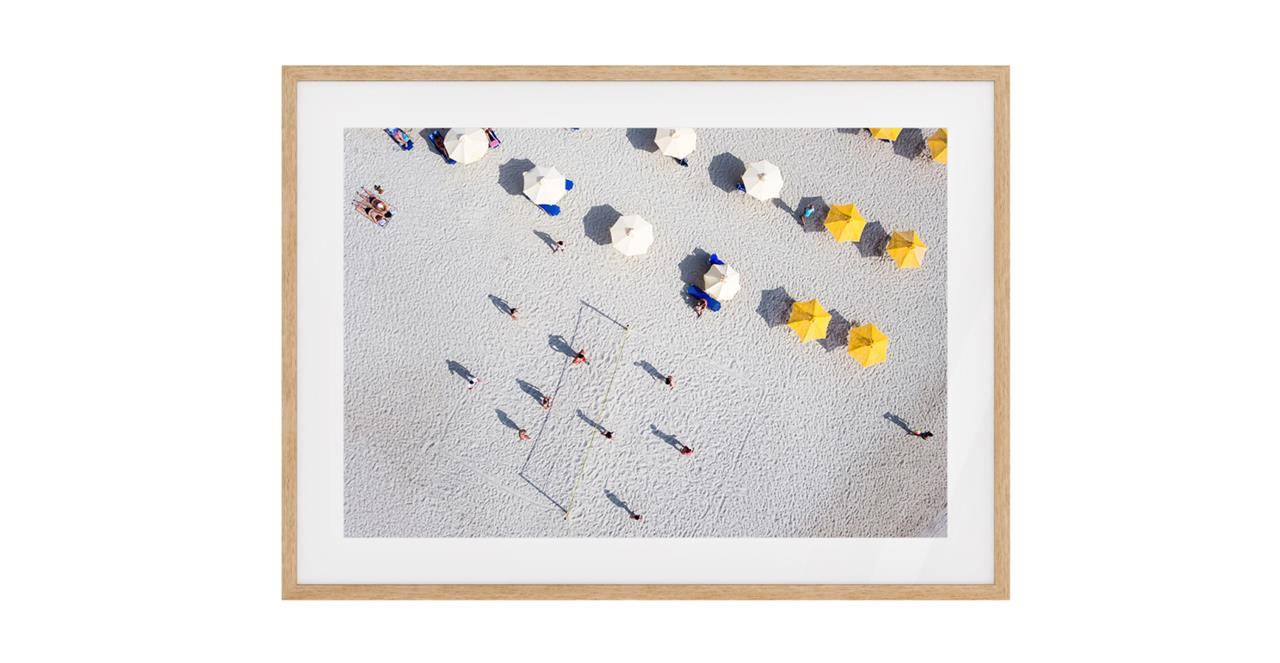 The Beach Print Natural Wood Frame Medium