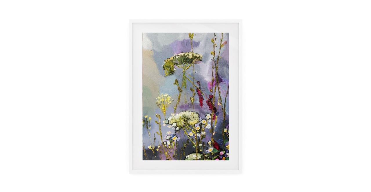 The Bloom Print White Wood Frame Medium