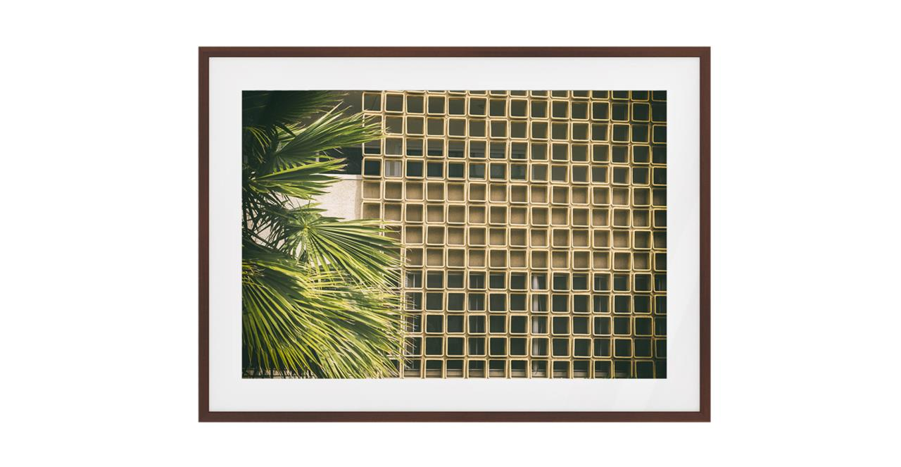 The California Print Dark Brown Wood Frame Medium