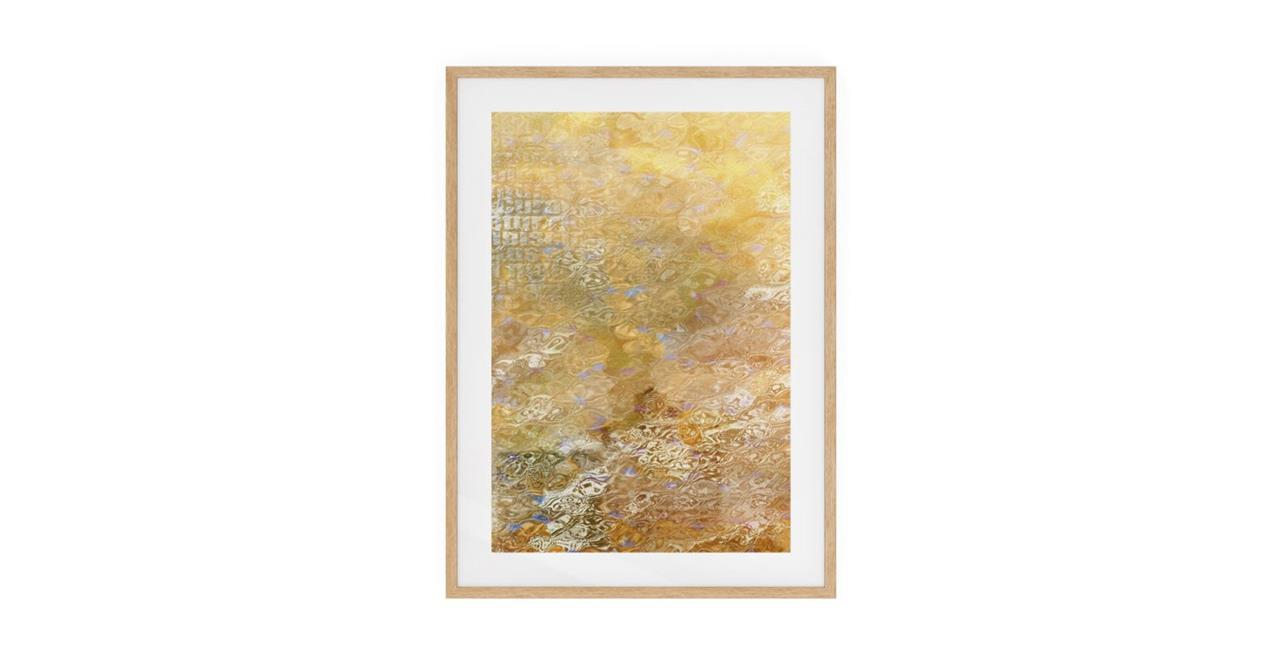The City Sun Print Natural Wood Frame Medium Morning